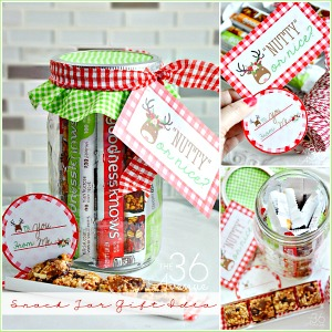 Snack Jar Gift Idea and Free Printables