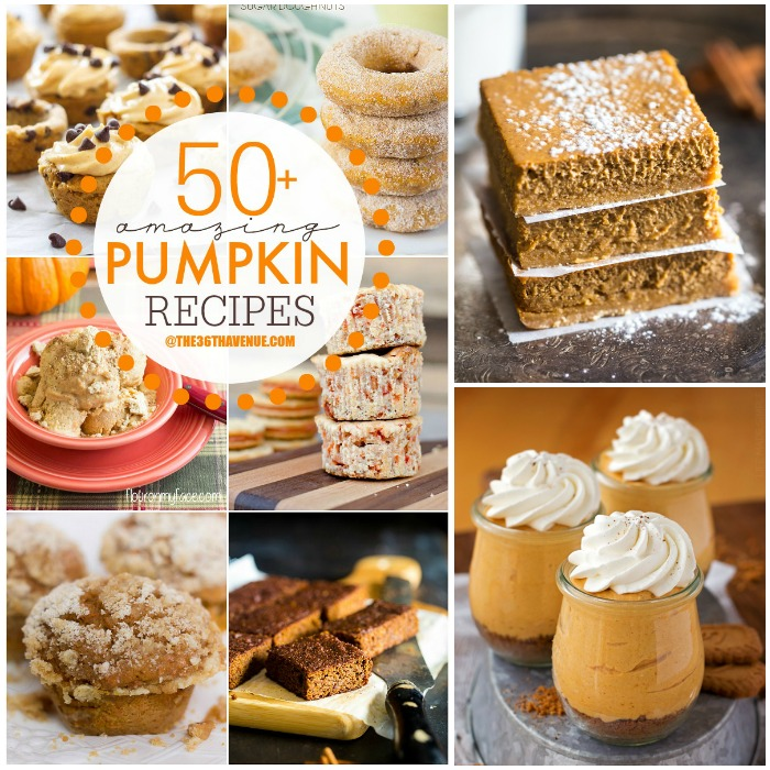 Pumpkin Recipes - Top 50 Pumpkin Recipes at the36thavenue.com ...These are amazing!