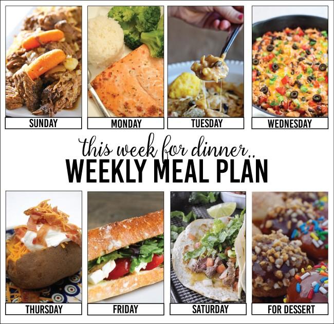 Weekly Meal Plan – Week Two