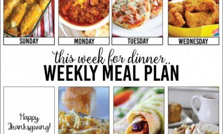 Weekly Meal Plan – Week Three