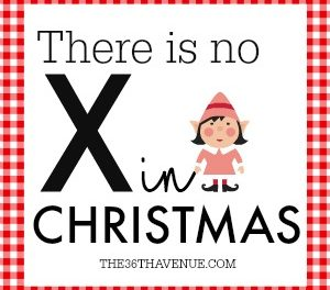 There is no X in Christmas