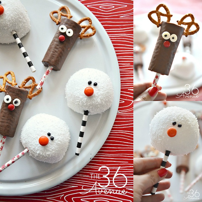 Easy Christmas Treats.Christmas Treats Reindeer And Snowman The 36th Avenue