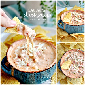 Slow Cooker Cheesy Sausage Dip