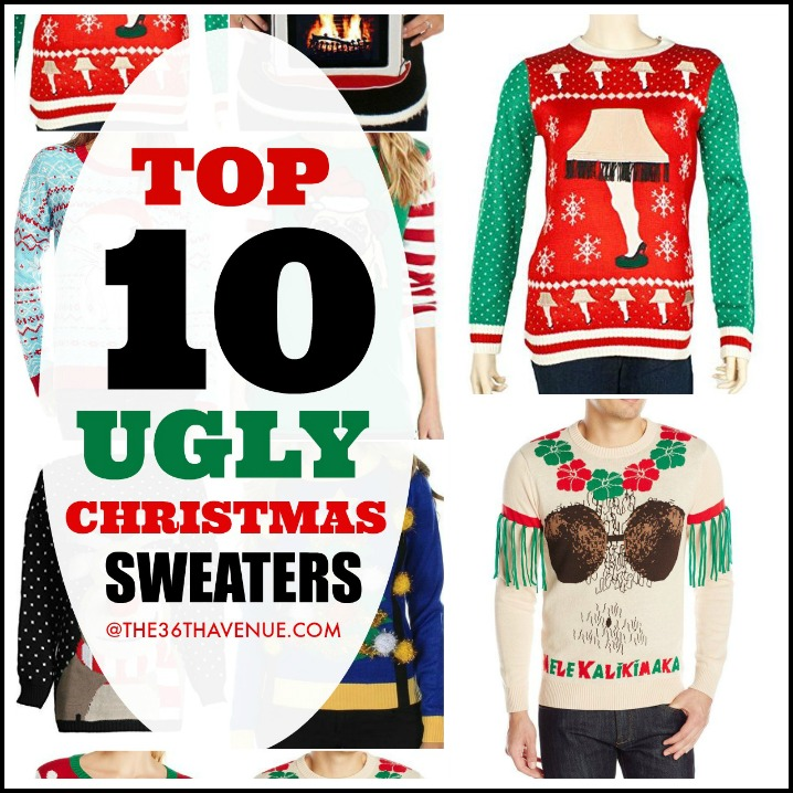 Ugly Christmas Sweaters FB the36thavenue.com