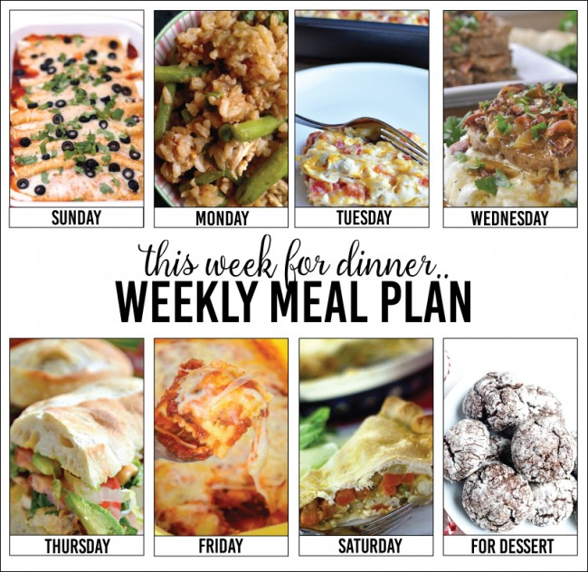 Weekly Meal Plan – Week 6
