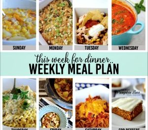 Weekly Meal Plan – Week One