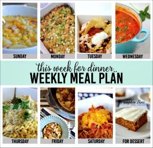 Weekly Meal Plan – Week One