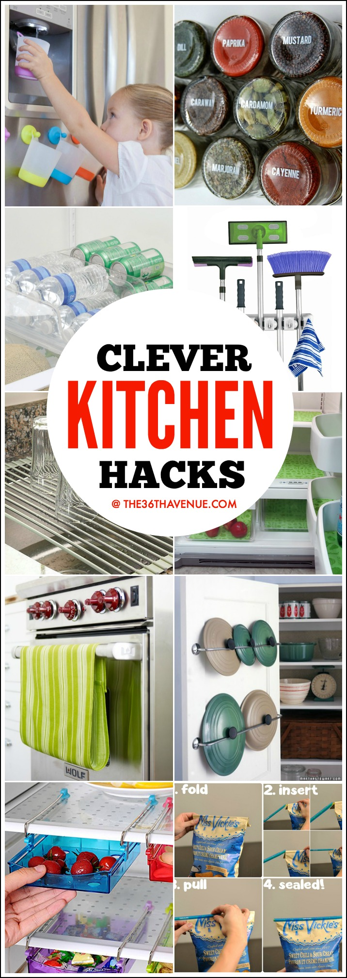 Clever Kitchen Hacks the36thavenue.com
