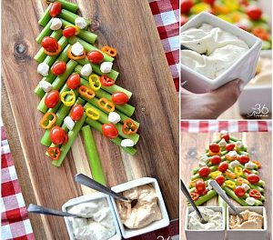 Edible Christmas Tree and Veggie Dip