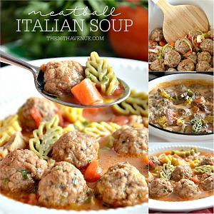 Meatballs Italian Soup Recipe