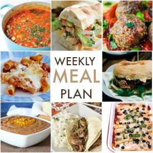 Weekly Meal Plan – Week 9