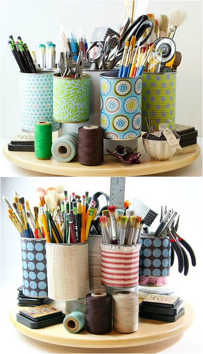 DIY Recycled Tin Can Projects - These crafts,  organization, and home decor ideas are brilliant and easy to make! PIN IT NOW and make them later!