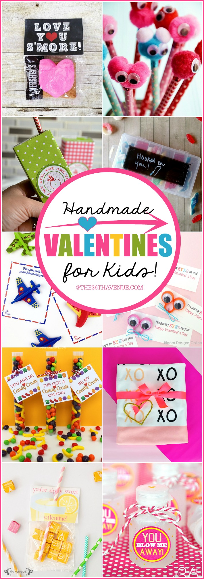 Handmade Valentines for Kids the36thavenue.com