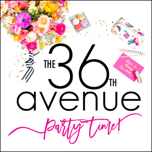 Come PARTY and link up your DIY Projects, recipes, crafts, home decor ideas, and more every Thursday at 9:00PM MT over at the36thavenue.com