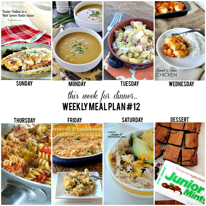 Weekly Meal Plan - Easy, delicious, and quick recipes for the entire week!
