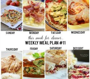 Weekly Meal Plan – Week 11
