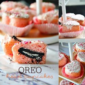 Oreo Heart Cupcakes