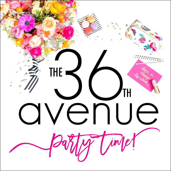 Time to Party! Come and link up your DIY Projects, Home Decor Ideas, delicious Recipes, crafts, and handmade gifts over at the36thavenue.com!