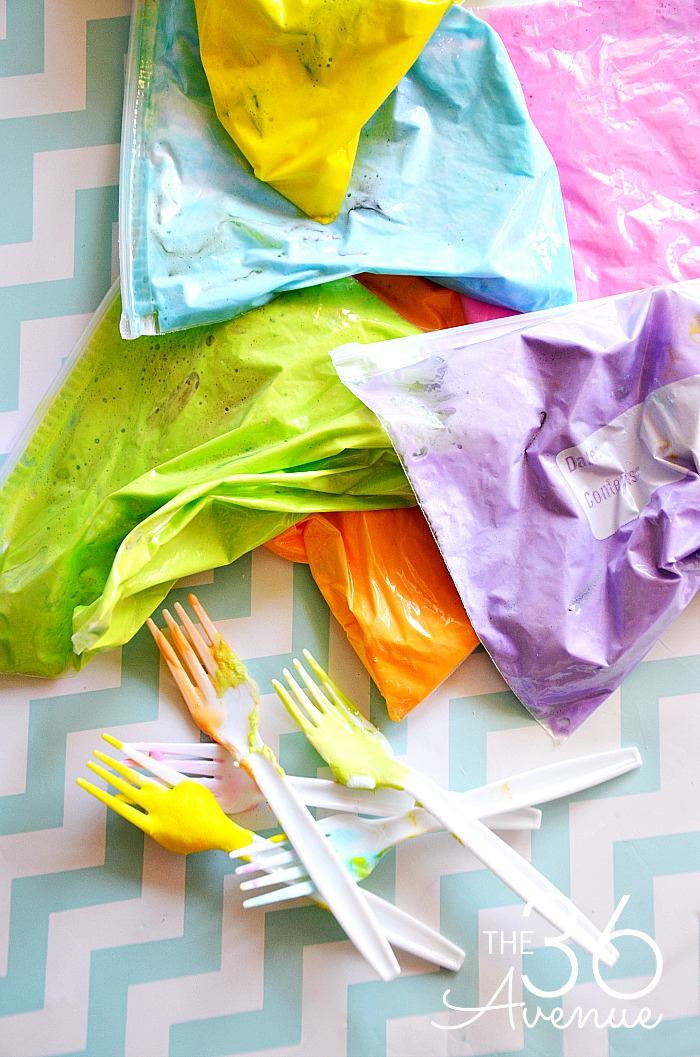 DIY Puffy Paint - This easy paint can be done in minutes and the kids love creating their own paintings with it.  Such a fun kid activity! PIN IT NOW and make it later!