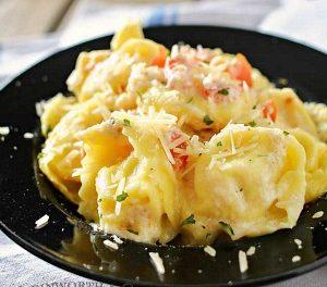 Tomato Tortellini Alfredo Recipe