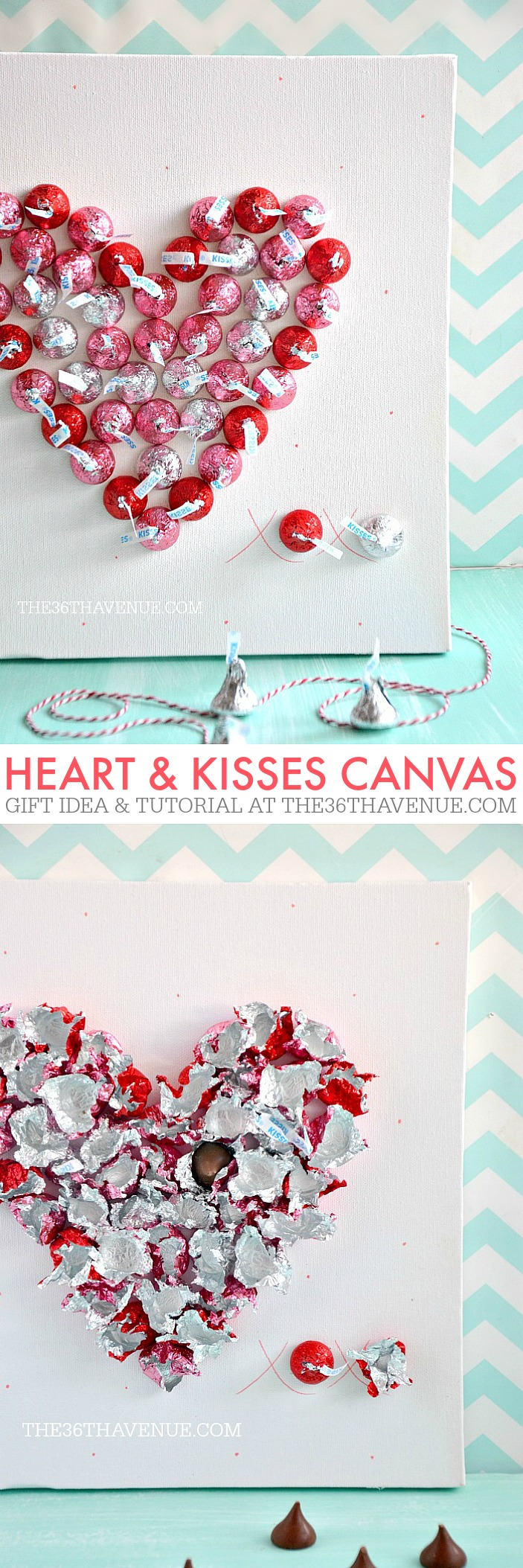 Valentine Gifts - Heart & Kisses Canvas - the36thavenue.com