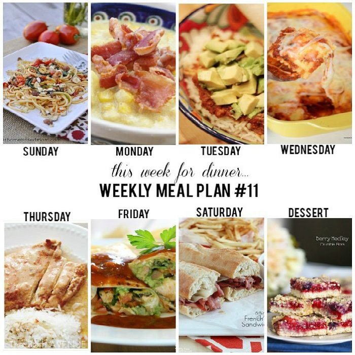 Weekly Meal Plan - Easy and delicious recipes for the entire week!
