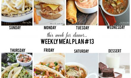 Weekly Meal Plan – Week 13