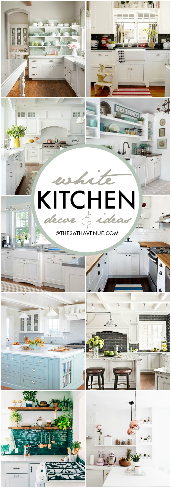 White Kitchen Decor Ideas the36thavenue.com