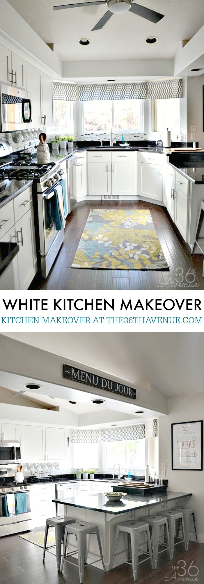 White Kitchen Decor Ideas - Gorgeous white kitchen makeovers and great tips and ideas of how to decorate a kitchen!