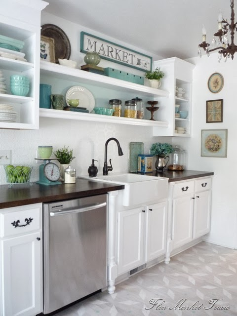 white kitchen decor ideas - the 36th avenue