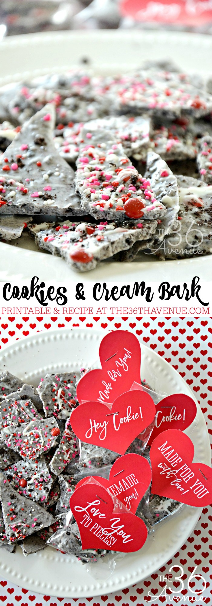 This Cookies & Cream Bark tastes just like the candy bar! You'll need just two ingredients for this easy and quick recipe! This treat is perfect for dessert or as a snack! So good!