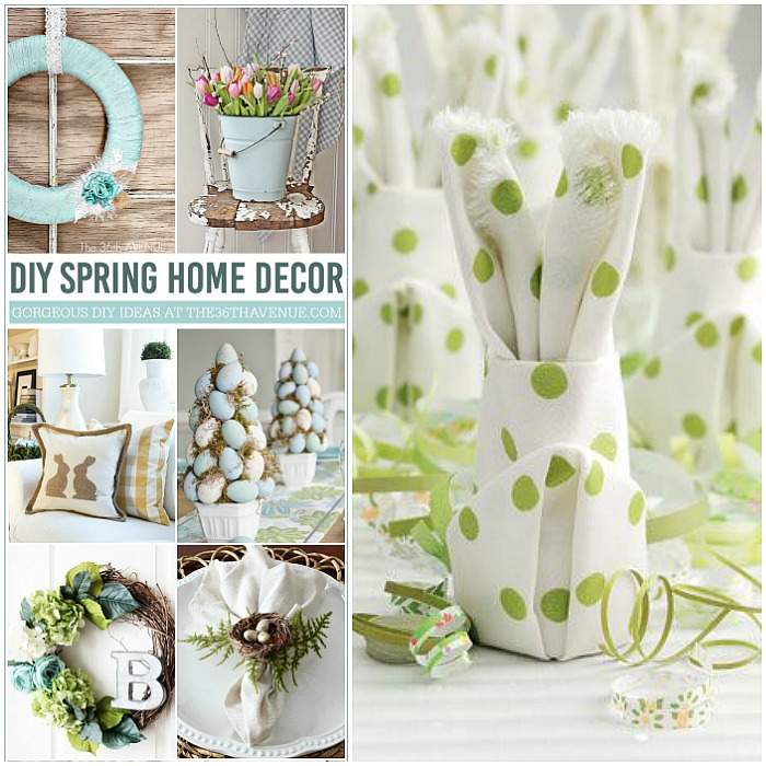 18 Spring Decor Ideas: Easter DIY Spring Home Decor
