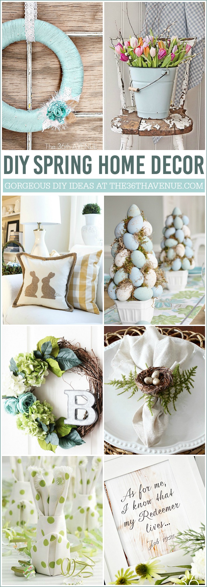 DIY Home Decor Spring Ideas the36thavenue.com