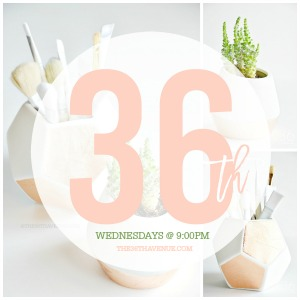Link Up your home decor ideas, recipes, crafts, DIY Projects, and more every Wednesday, starting at 9:00 pm!