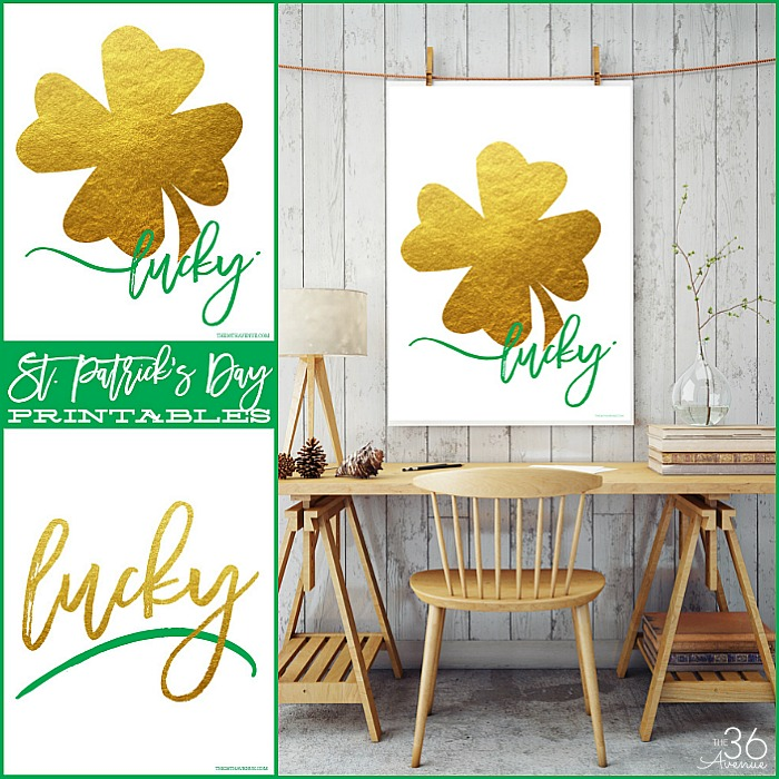 Lucky Printables the36thavenue.com
