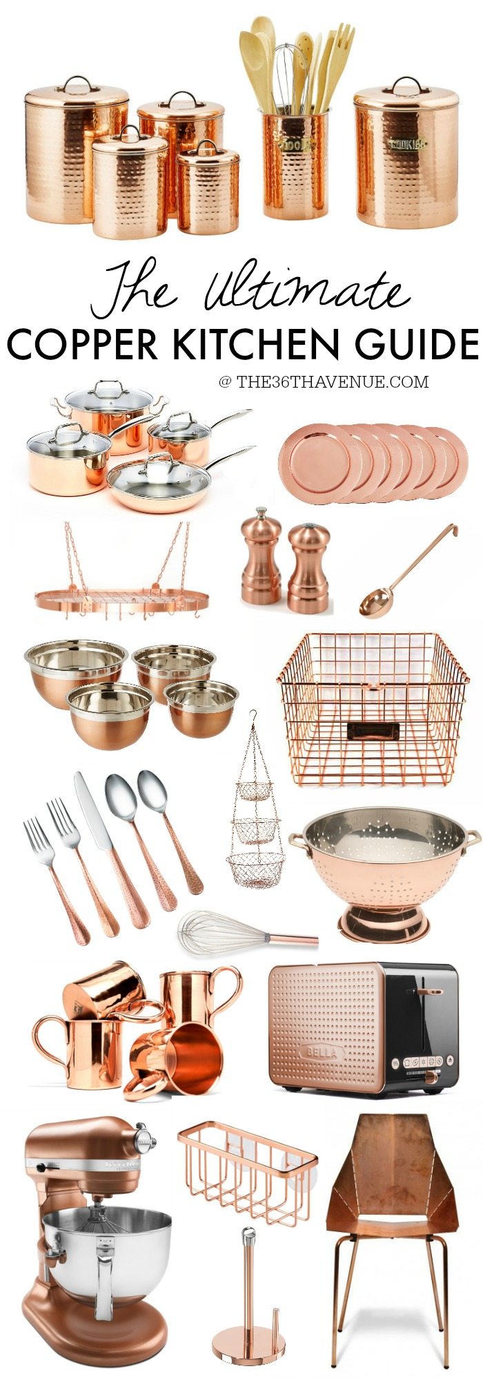 The Ultimate Copper Kitchen Guide at the36thavenue.com