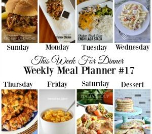 Weekly Meal Plan – Week 17