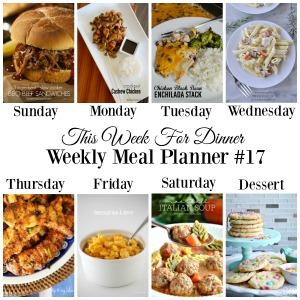 Weekly Meal Plan – Week 17