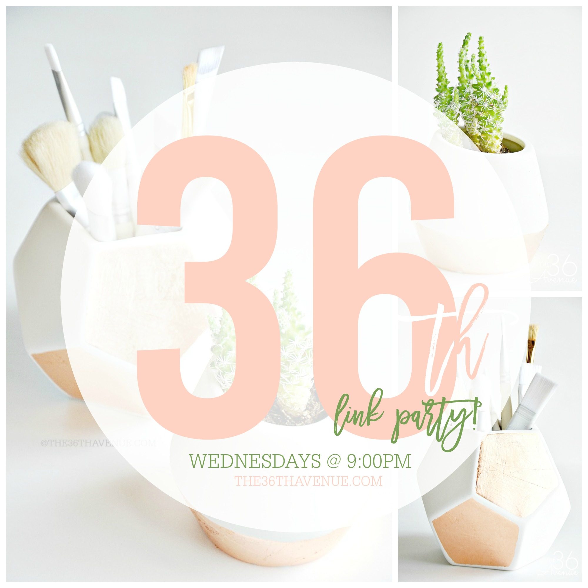 Link Up your home decor ideas, recipes, crafts, DIY Projects, and more every Wednesday, starting at 9:00 pm