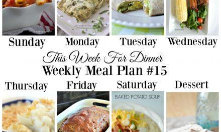 Weekly Meal Plan – Week 15
