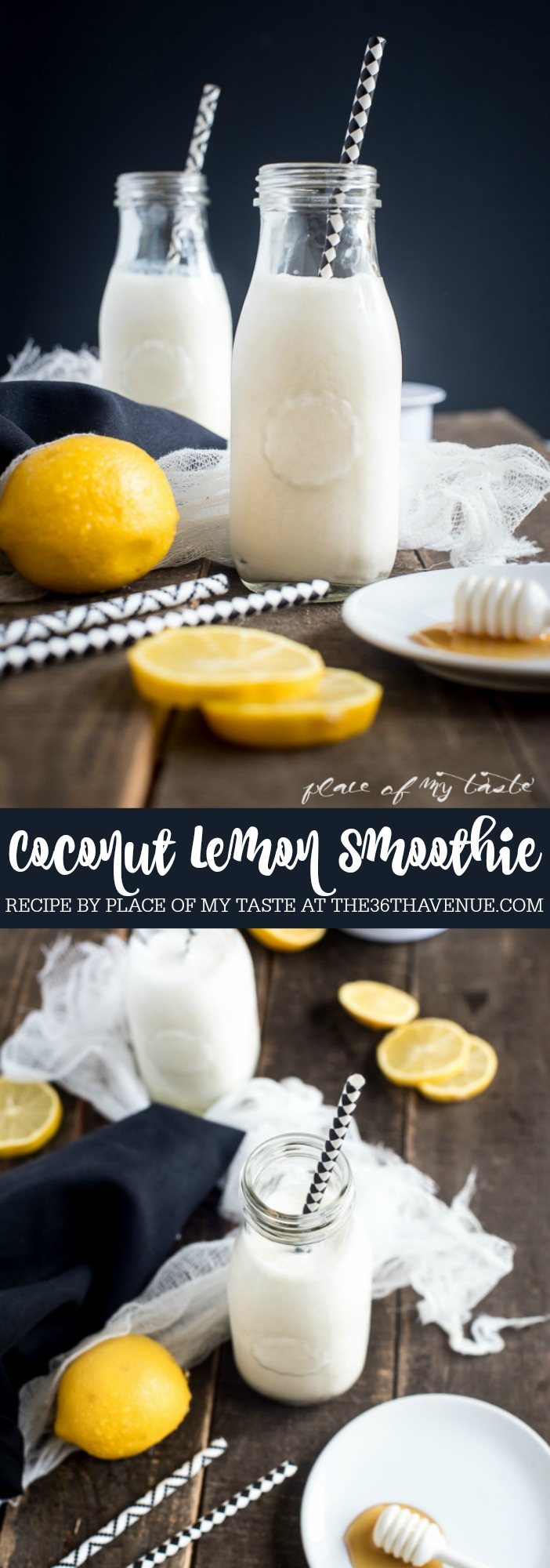 Coconut Lemon Smoothie at the36thavenue.com