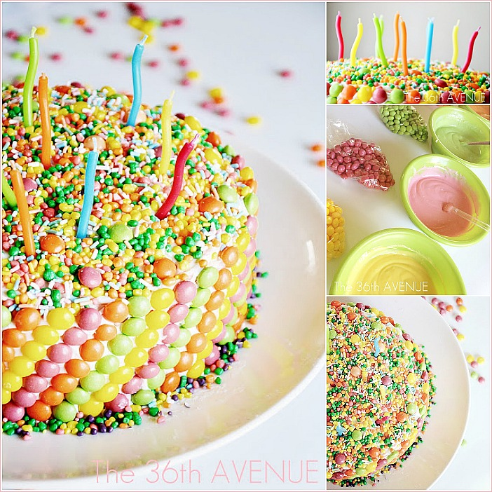 Cake Recipe - This Candy Funfetti Cake Recipe is super fun for birthday parties! Fun to make, fun to eat, and fun to share. Kids love this cake.