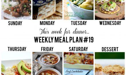 Weekly Menu Plan – Week 19