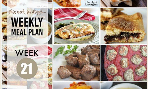 Weekly Meal Plan – Week 21