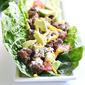 Cheeseburger Lettuce Wrap