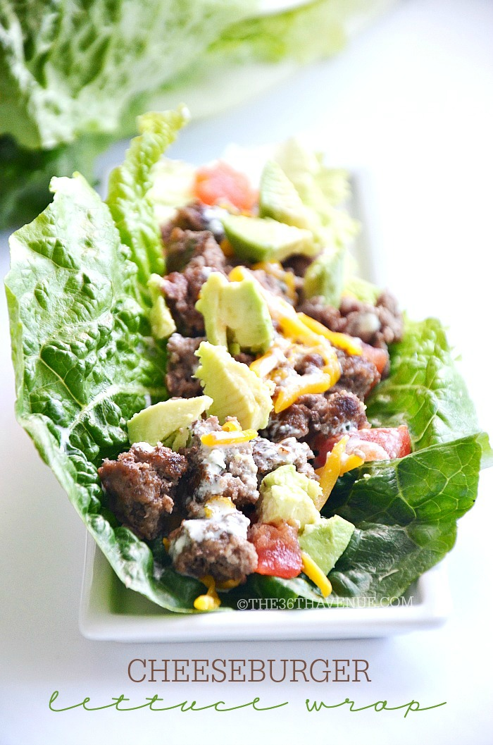 Cheeseburger Lettuce Wrap by the36thavenue.com