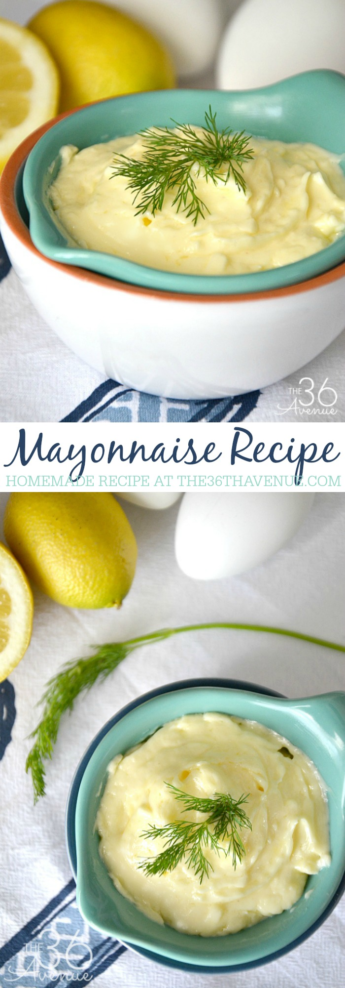 Recipes - How to make Homemade Mayonnaise. Just four ingredients and 5 minutes to make