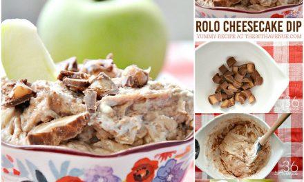 Rolo Cheesecake Dip