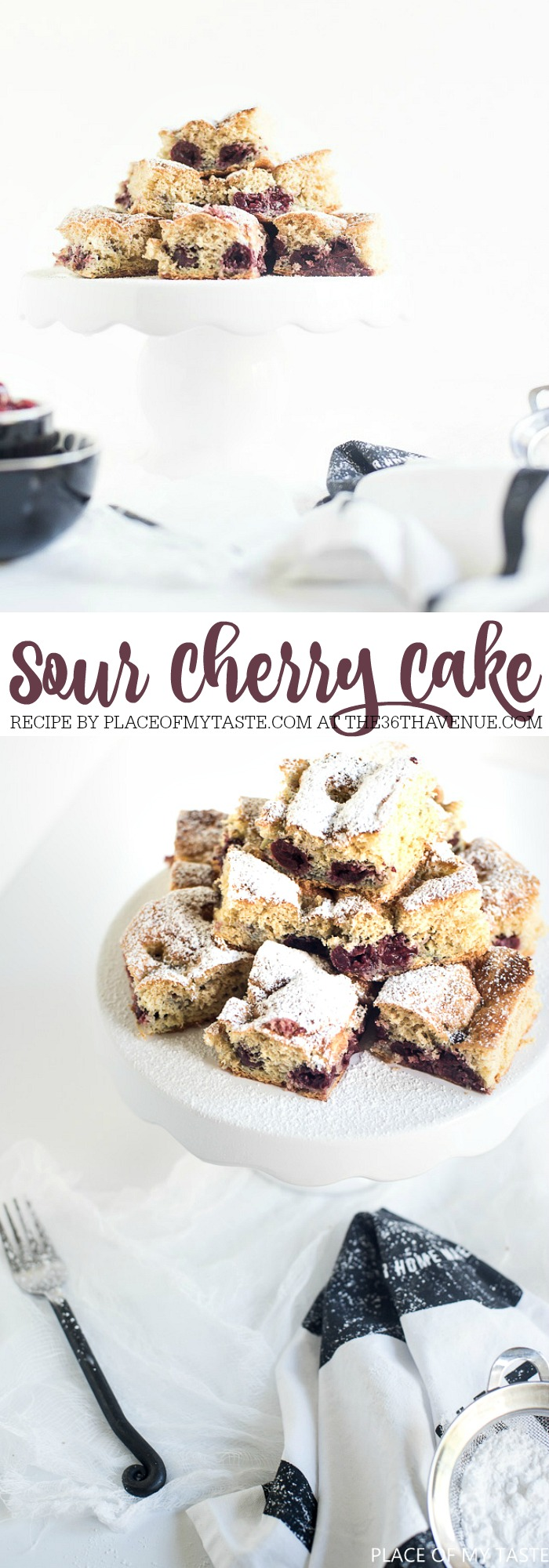Recipes - This delicious Cherry Cake Recipe is super easy to make and it never fails.