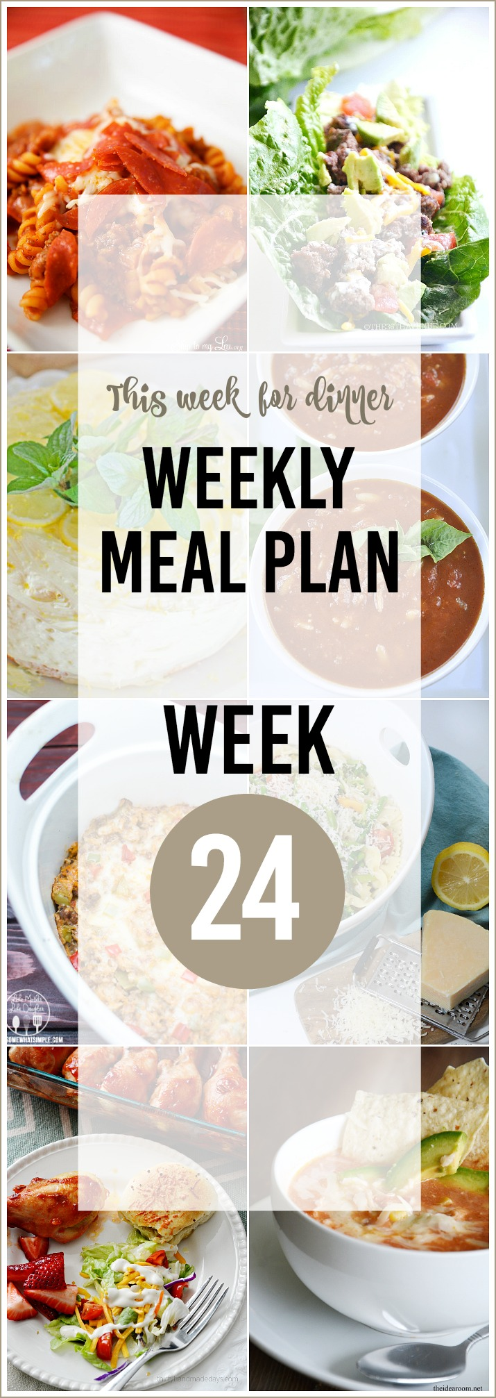 WEEKLY MEAL PLAN 24 the36thavenue.com